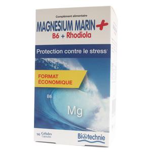 Magnésium marin et rhodiola contre le stress en format de 90 gélules 413460