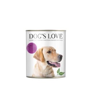 Aliment complet pour chien Dog's Love à l'agneau en boite de 400 g 413508
