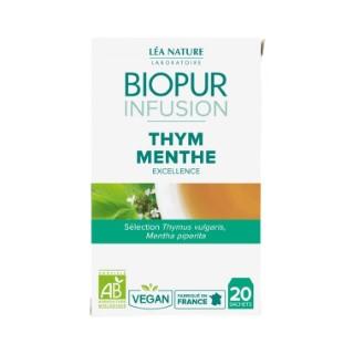 Infusion au thym et à la menthe bio en boite de 20 sachets 413629