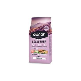 Croquettes pour chat stérilisé Ownat grain free prime Poulet et dinde 8 kg 413874