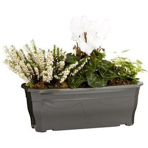 Jardinière d'extérieur avec plantes en mélange blanc et vert 30 cm