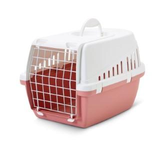 Panier de transport rose pour chat et petit chien 415410