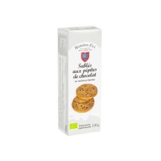 Sablés aux pépites de chocolat bio Histoire d'ici 110g 415451
