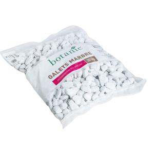 Galets de marbre blanc de Carrare calibre 20 à 40 mm en sac de 20 kg 416017