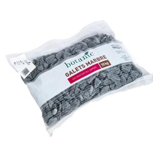 Galets roulés de marbre noir ébène calibre 20 à 40 mm en sac de 10 kg 416022