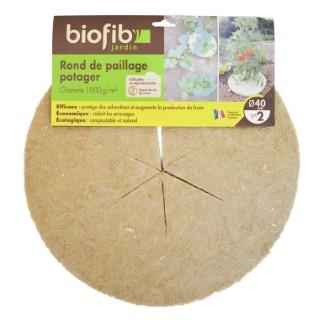 Disque de paillage Biofib'jardin marron Ø 40 cm 416349
