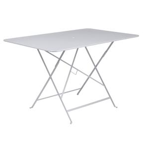 Table pliante Bistro Fermob en acier coloris blanc coton 117 x 77 x 74 cm 417596