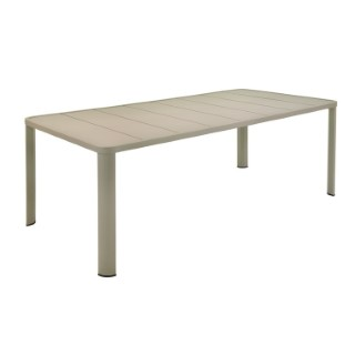 Table Oleron en aluminium coloris Muscade de 205 x 100 x 74 cm 417716