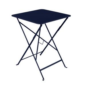 Table pliante carrée Bistro Bleu abysse 417763