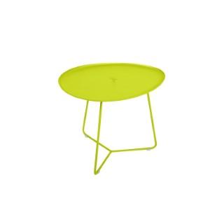 Table basse cocotte en aluminium coloris verveine de 44 x 55 x 43 cm 417815