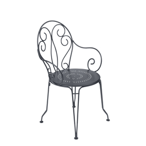 Fauteuil de jardin Montmartre Fermob carbone 417932