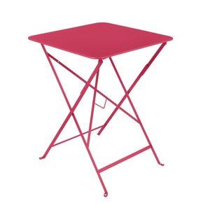 Table pliante ronde bistro en acier coloris rose Ø 57 H 74 cm 417939
