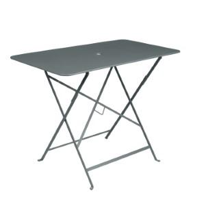 Table pliante bistro en acier coloris gris orage de 95 x 57 x 74 cm 418026