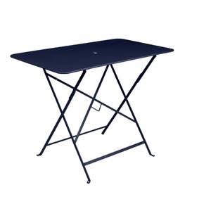 Table pliante bistro en acier coloris bleu abysse de 95 x 57 x 74 cm 418037