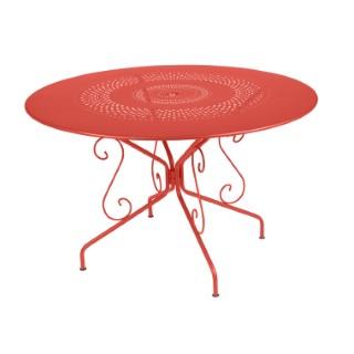 Table Montmartre Fermob en acier coloris capucine Ø 117 cm 418041