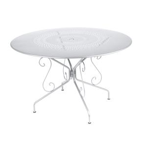 Table Montmartre Fermob en acier coloris blanc coton Ø 117 cm 418047
