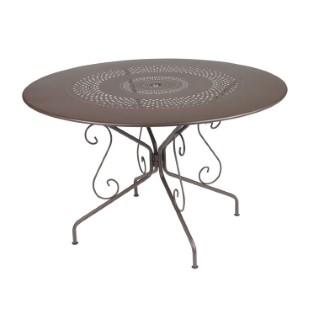 Table Montmartre Fermob en acier coloris rouille Ø 117 cm 418048