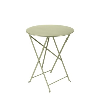 Table de jardin ronde pliante Bistro FERMOB tilleul 60 x h 74 cm 418174
