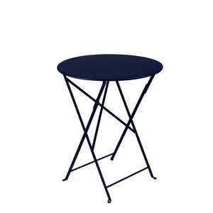 Table de jardin ronde pliante Bistro FERMOB bleu abysse 60 x h 74 cm 418181
