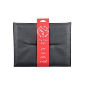 Coussin bistro Fermob coloris carbone en TTE et mousse 28 x 38 cm 418258