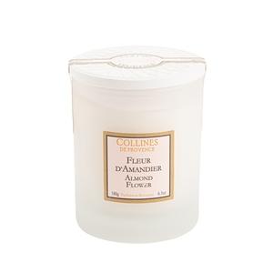 Bougie blanche parfumée Fleurs d'Amandier 180 g 418422
