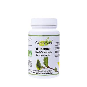 L'extrait de bourgeon d'aubépine bio en boite de 60 gélules 418455