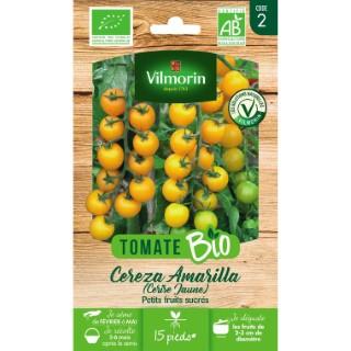 Graines de Tomate cereza amarilla jaune bio en sachet 419488