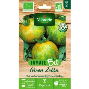 Graines de Tomate green Zebra bio en sachet 419489