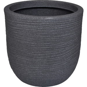 Pot rond Granit gris Ø 45 x 43 cm de 55 L 419877