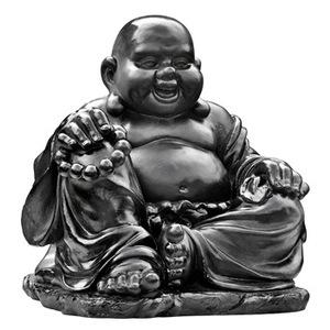 Statue de jardin Bouddha chinois rieur H 35cm 419880