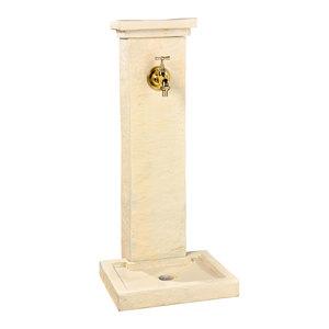 Fontaine borne schiste béton coulé ton pierre H83 cm 419890