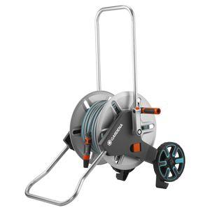 Dévidoir équipé gris sur roues avec tuyau de 25 m 419932
