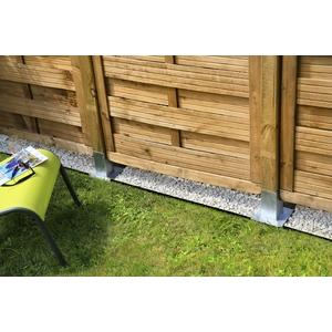 Sous clôture Bordicloture x 5 Polyester recyclé Gris 100x22 cm 420663