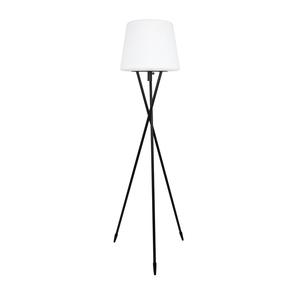 Lampadaire tripode noir et blanc sur secteur 40 x 40 x 150 cm 421175