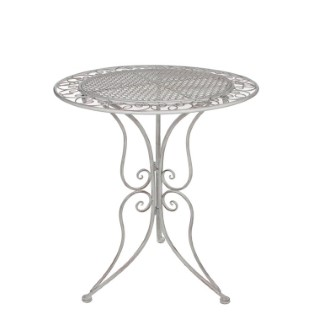 Table Provence blanche en métal Ø 60 x H 70 cm
