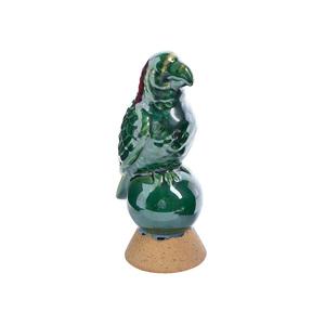 Oiseau vert et fuchsia 8,5x7x18 cm