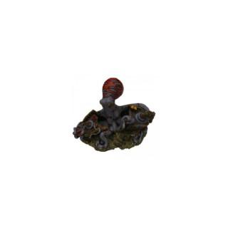 Décoration d'aquarium Epave octopus 15 cm