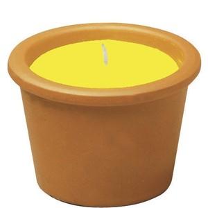 Minie bougie à la citronnelle dans un pot en terre cuite 424384