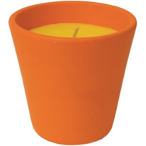 Bougie à la citronnelle dans bol terre cuite caribe 80X82 424397