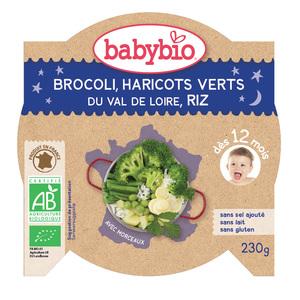 Mon Assiette Farandole de Légumes Verts-riz bio BABYBIO
