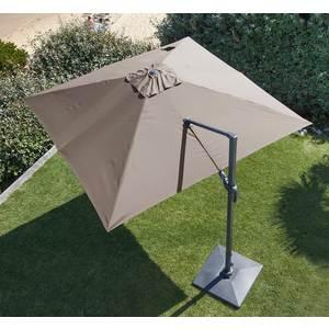Parasol déporté rotating orientable taupe 300 x 300 cm