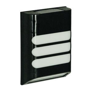 Applique solaire Rana en plastique noir à LED blanc chaud 11x4,9x16 cm 427352