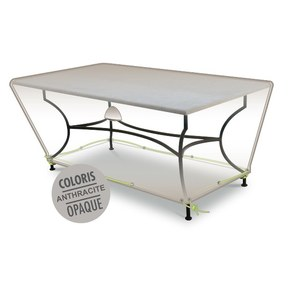 Housse table rectangulaire 4-6 pers. de coloris anthracite en polyester 427463