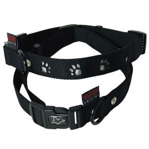 Collier chien pattes 45-65cm noir / 25mm 435744