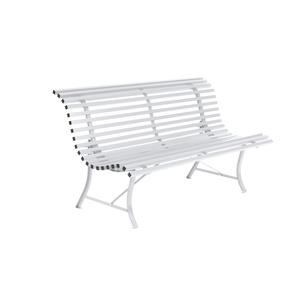Banc Louisiane Fermob en acier coloris blanc coton 150 cm 438638