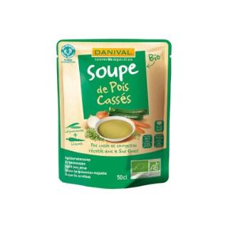 Soupe bio de pois cassés 50 cl