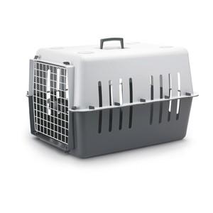 Panier transport 66cm plastique Pet Carrier gris