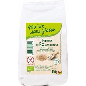 Farine de riz demi-complet 500 g