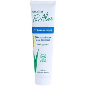 Crème à raser 50% Pur Aloe Tube 100ml blanc 448892