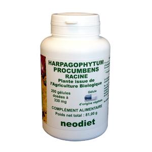 Gélules d'harpagophytum bio en boite de 200 unités 450778